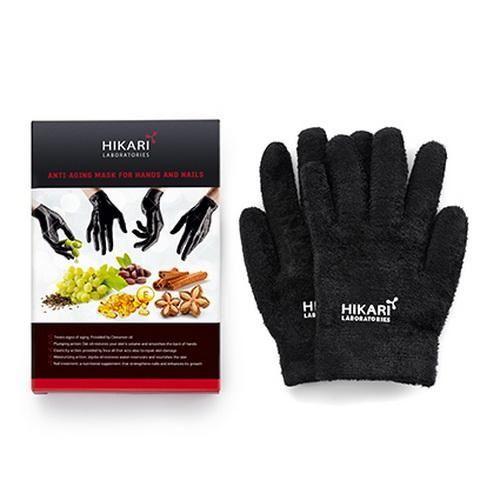 Омолаживающие кожу рук перчатки(пропитанные ценными маслами) 40 применений Hikari (Хикари) 1 пара