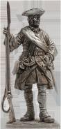 Капрал армейской пехоты, 1708-20 гг. Россия
