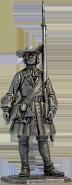 Фузилёр солдатского пехотного полка, 1702-06 гг. Россия
