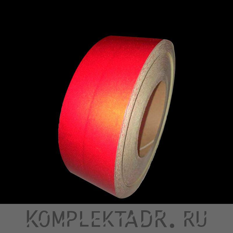 Светоотражающая лента 0,05х45,7м красная сплошная (Арт.: 36103)