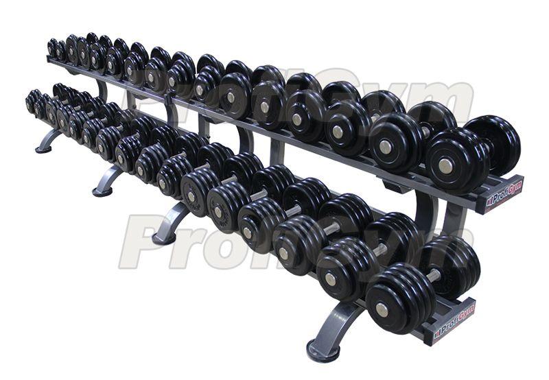 ГП-009 Обрезиненный гантельный ряд «Profigym» от 8,5 до 41 кг с шагом 2,5 кг