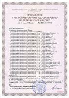 приложение к сертификату на аппликаторы Ляпко
