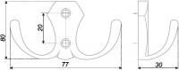 Мебельный крючок двухрожковый K203CP.2