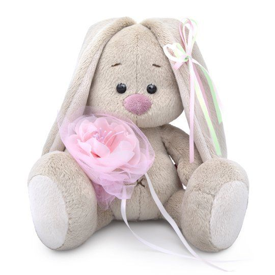 Зайка Ми c розовым цветком малыш SidX-292