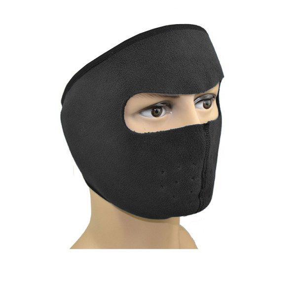 Флисовая маска для защиты от холода, цвет черный