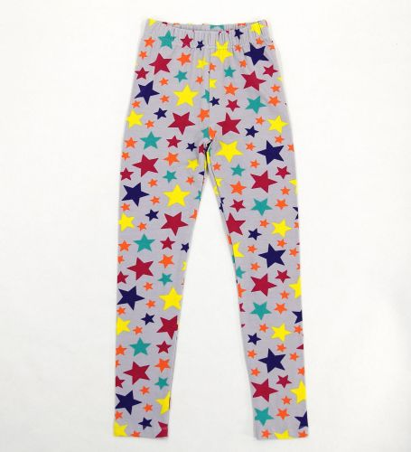 Лосины для девочки 8-12 лет Bonito kids серые со звездочками