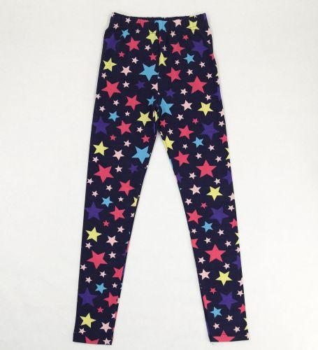 Лосины для девочки 8-12 лет Bonito kids темно-синие со звездочками
