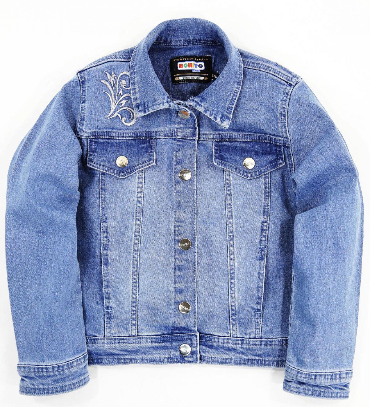 """Пиджак джинсовый Bonito Jeans """"ornament"""" голубой"""