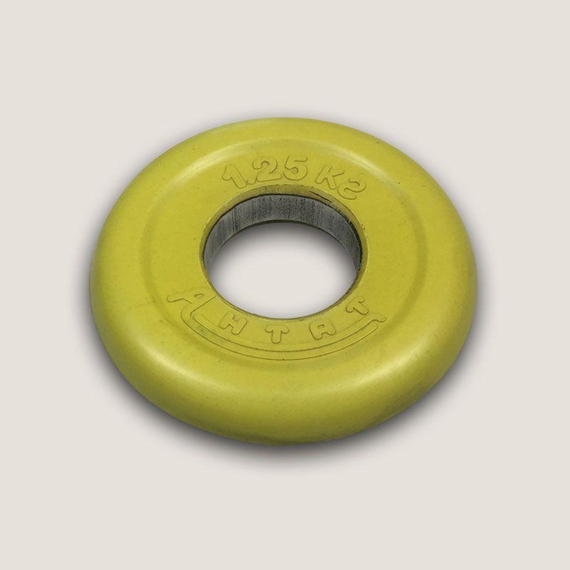 АНц-1,25 Диск «Антат» цветной обрезиненный 1,25 кг, посадочный диаметр 26, 31, 51 мм