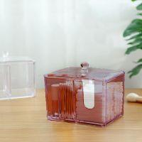 Акриловый контейнер для хранения мелочей Multi-Functional Storage Box QFY-3125, цвет бордовый (1)