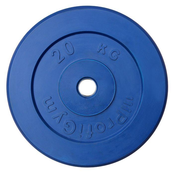 Диск «Profigym» тренировочный обрезиненный 20 кг цветной 31 мм (металлическая втулка)