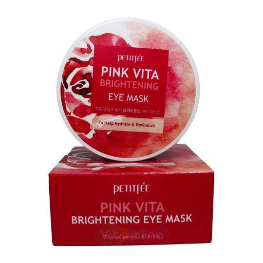 Petitfee Осветляющие тканевые патчи для глаз Pink Vita Brightening Eye Mask, 60 шт