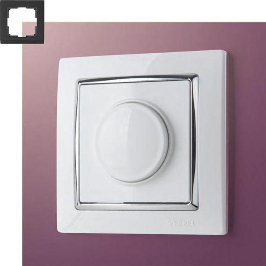 Рамка на 1 пост Werkel WL03-Frame-01 Белый / серебро