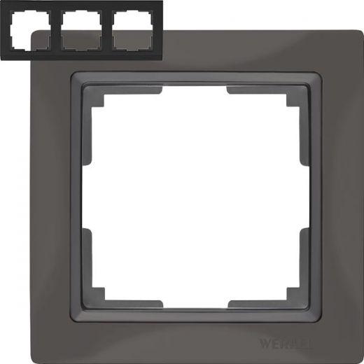 Рамка на 3 поста Werkel WL03-Frame-03 Basic серо-коричневый