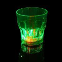 Светящийся стакан для виски восьмиугольный Bubble Rocks (2)