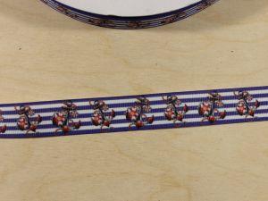 Лента репсовая с рисунком, ширина 22 мм, длина 10 м, Арт. ЛР5838