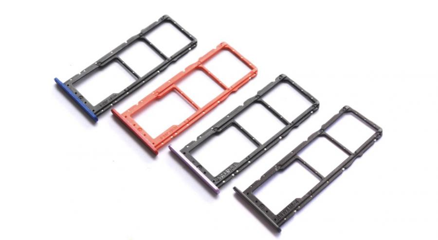 Лоток sim-карты и micro SD Huawei Honor 8X (black) Оригинал