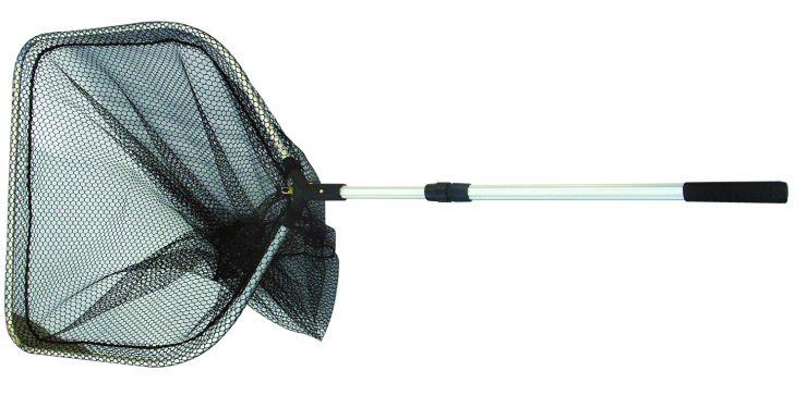 Подсачек телескопический SWD треугольный карповый l-200 w1-65 w2-70 мелкая сетка