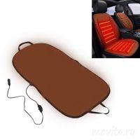 Плюшевая накидка с подогревом для сиденья автомобиля