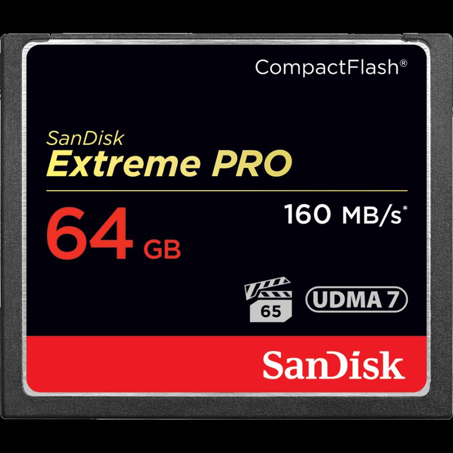 Карта памяти SanDisk Extreme PRO CompactFlash 64 GB