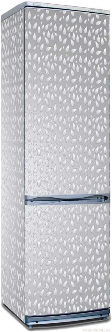 Наклейка на холодильник - Серебряный дождь