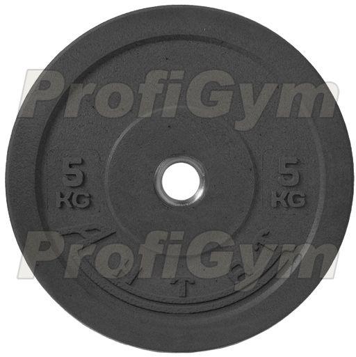 Диск для кроссфита (бампер) черный 5 кг