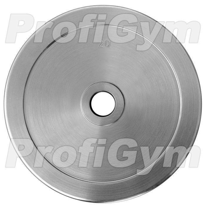 Диск хромированный «ProfiGym» 20 кг посадочный диаметр 31 мм