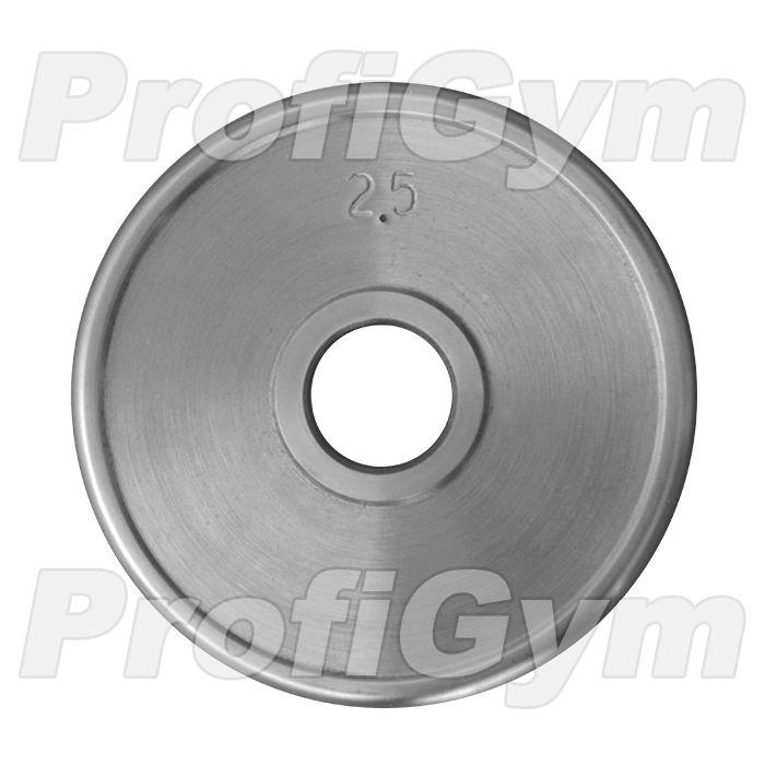 Диск хромированный «ProfiGym» 2,5 кг посадочный диаметр 51 мм