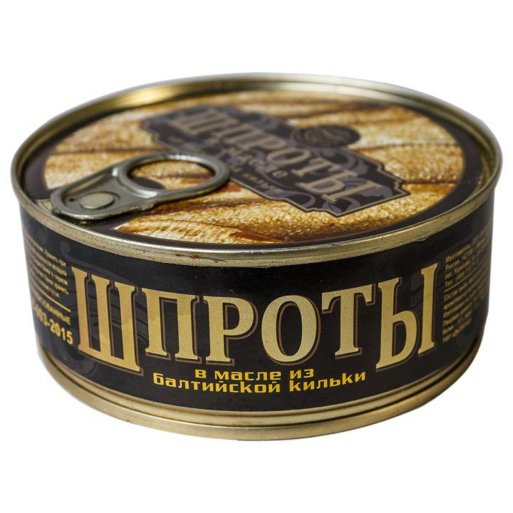Шпроты в масле ж/б (ключ) 240г Русский рыбный мир