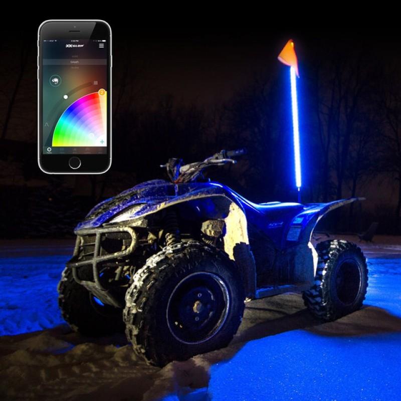 """Светодиодный Флаг-Шток """"Bright Line"""" Bluetooth , led whip , хлыст"""