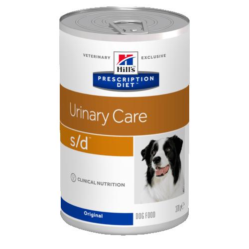 Консервы HILL's DIET S/D диета для собак всех пород при мочекаменной болезни 370гр