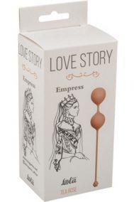 Вагинальные шарики Lola Toys Love Story Empress Tea Rose розовые
