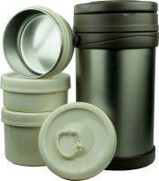 Термос Steel Food HM 2,3 литра с тремя контейнерами
