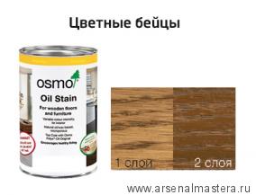 Цветные бейцы на масляной основе для тонирования деревянных полов Osmo Ol-Beize 3541 Гавана 1 л