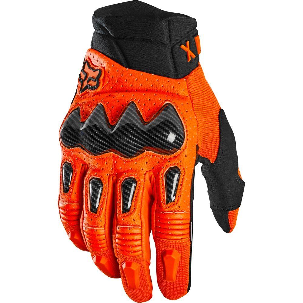 Fox - 2020 Bomber Fluorescent Orange перчатки, черно-оранжевые