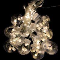 Светодиодная гирлянда-штора в виде ламп, 3 м