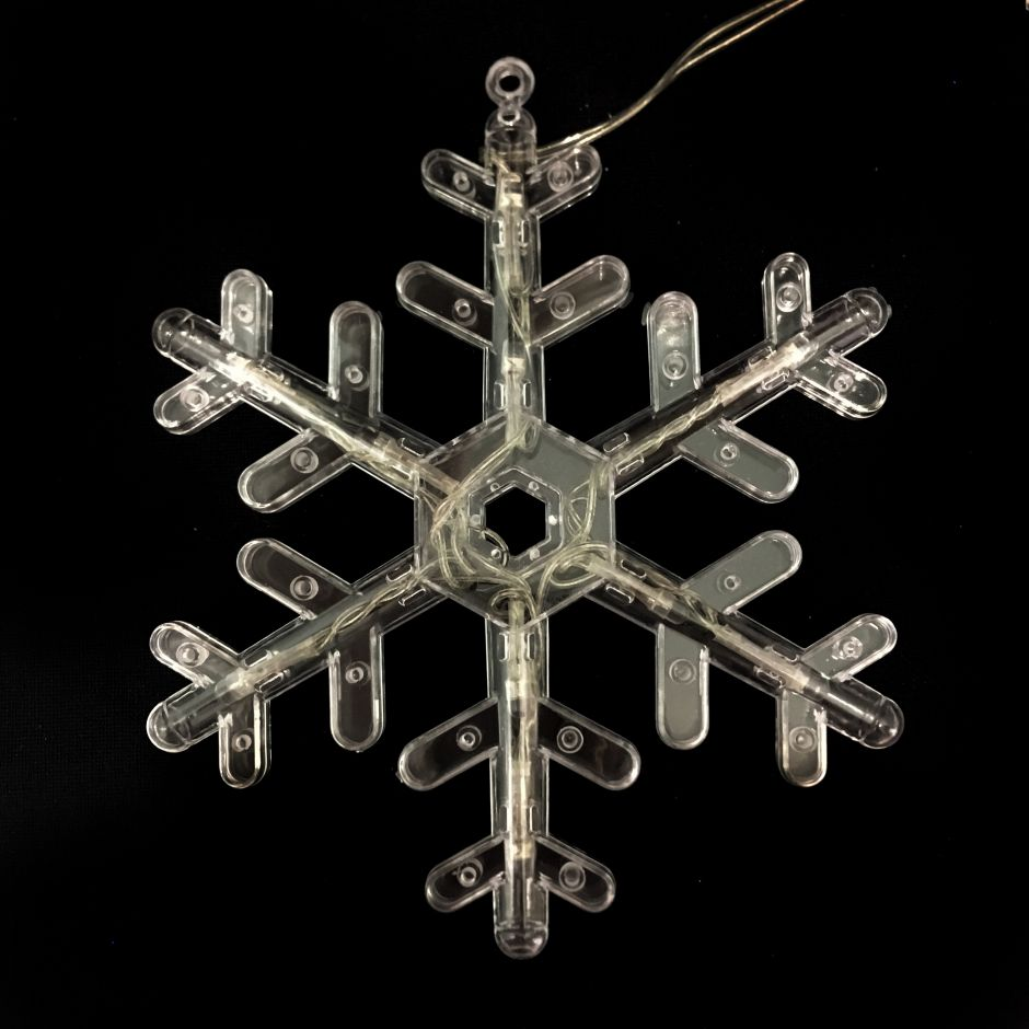 Электрическая Новогодняя гирлянда из снежинок, 280 см