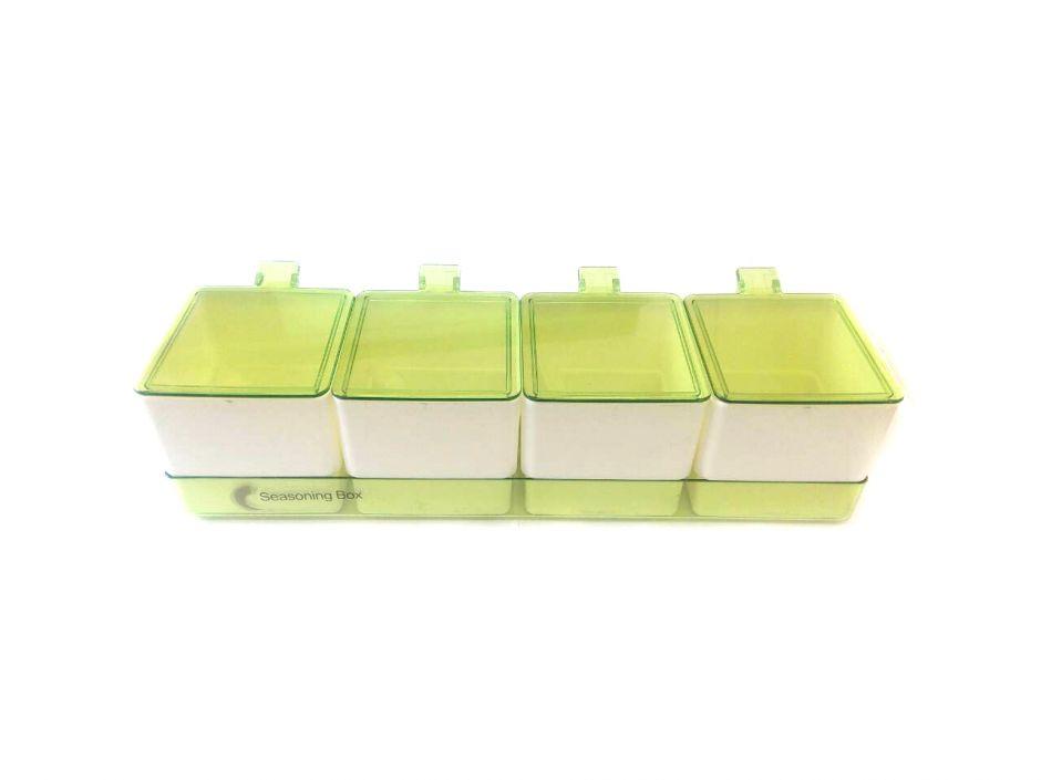 Набор емкостей для сыпучих продуктов, специй и приправ с ручками Ying Cai, 4 шт