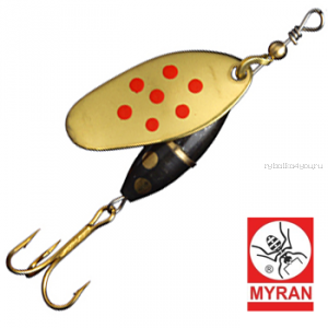 Блесна вертушка Myran Panter Prick 5гр / цвет: Guld Rod 6481-28