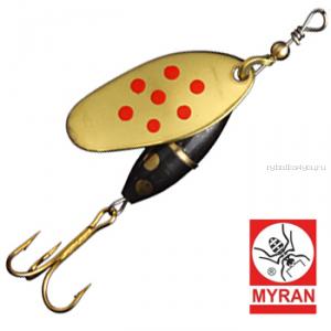 Блесна вертушка Myran Panter Prick 7гр / цвет: Guld Rod 6482-28