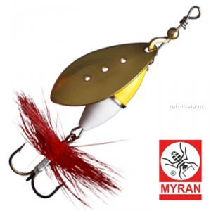 Блесна вертушка Myran Wipp Guld Vit 10гр / цвет: Guld 6443-28