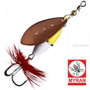 Блесна вертушка Myran Wipp Guld Vit 10гр / цвет: Koppar 6443-38
