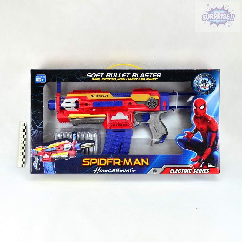 Пистолет Бластер человек паук с пулями на присоске (№SB408)