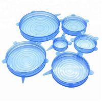 Набор силиконовых крышек Silicone Sealing Lids, 6 шт, цвет синий (4)