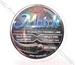 "Леска Kaida ""Match"" Sinking 200 м 0.148 мм"