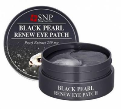 Патчи для глаз с экстрактом черного жемчуга SNP BLACK PEARL RENEW EYE PATCH (RENEWAL) 1,25гр*60
