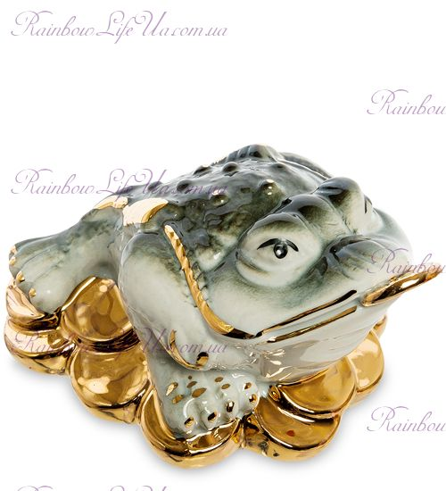 "Фигурка трёхлапая жаба с золотыми монетами ""VS'"