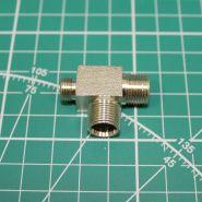 """Переходник штуцер 1/8 """" -  штуцер M12х1,0х2, Т-образный, (головка компрессора 1205, 1206 - ресивер, головка второго цилиндра)"""