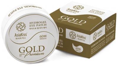 AsiaKiss Hydrogel Eye Patch Gold Premium Патчи гидрогелевые для глаз 60 шт
