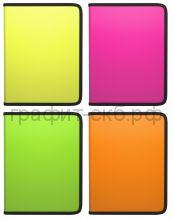 Папка для тетрадей А5+ ErichKrause Glance Neon на молнии ассорти 43035